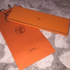 Hermès box and shopping bag